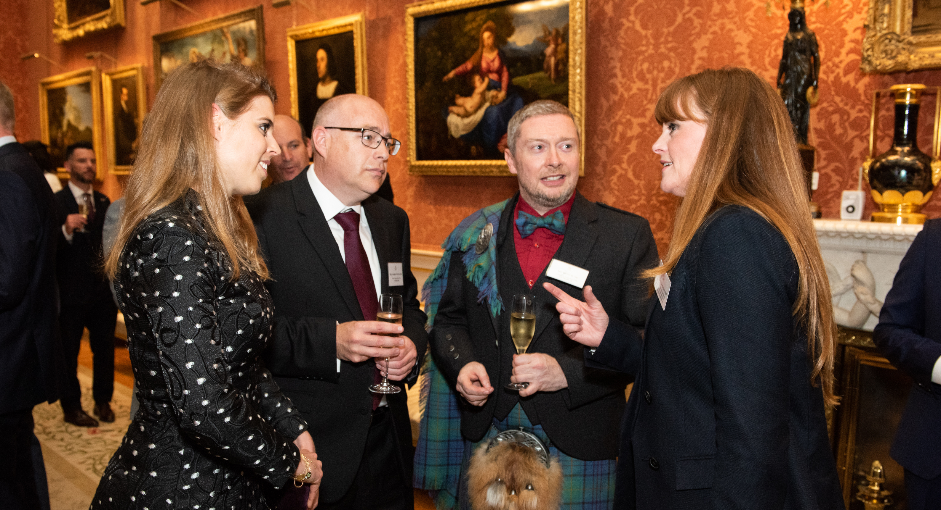 PHASTAR's Kevin Kane and Andrew MacGarvey speaking with Princess Beatrice at the award ceremony