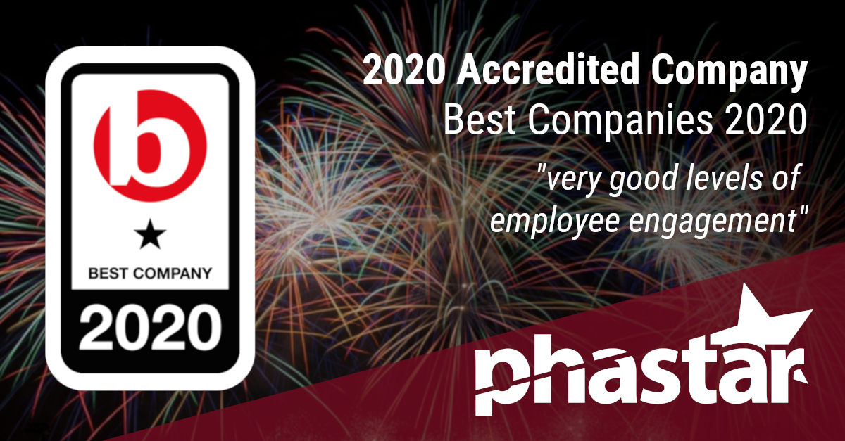 PHASTAR gains a 2020 Best Companies Star