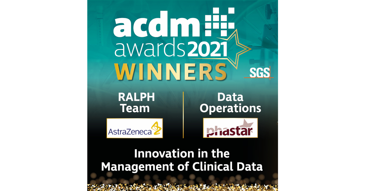 Image depicting PHASTAR and AstraZeneca as joint winners of the ACDM innovation award