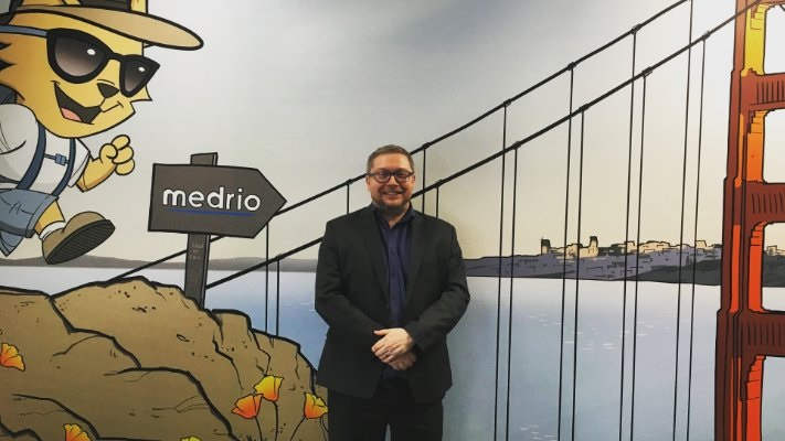 PHASTAR's CEO visiting the MEDRIO offices in San Francisco