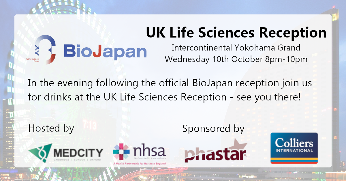 UK Life Sciences Reception at BioJapan