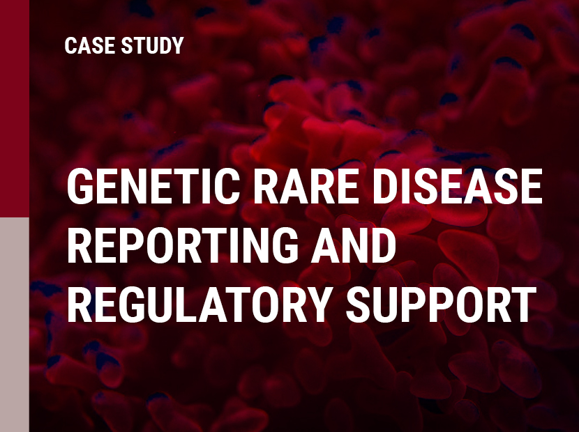 Genetic Rare Disease Reporting and Regulatory Support