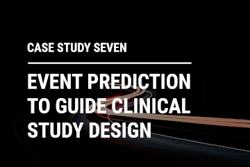 Event prediction to guide clinical study design