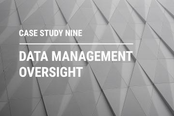 Data management oversight