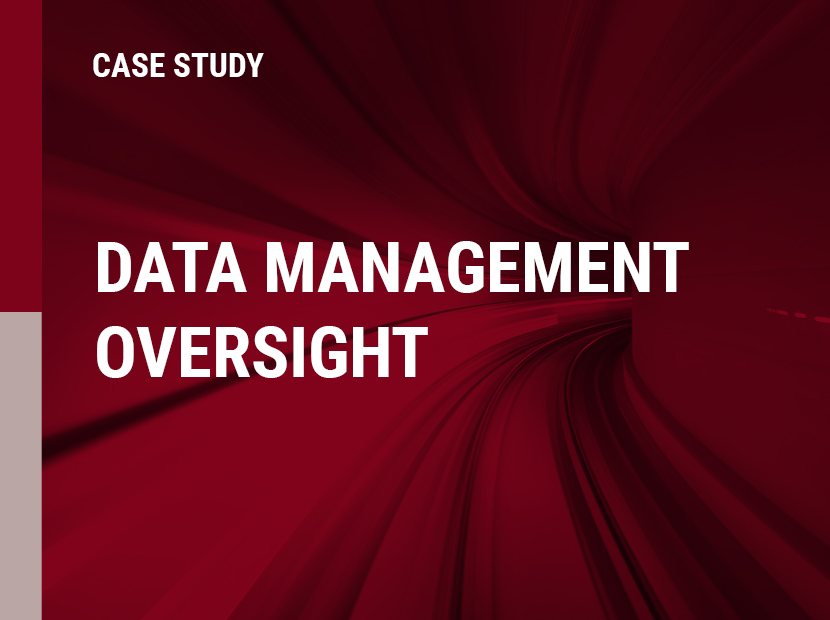 Data Management Oversight