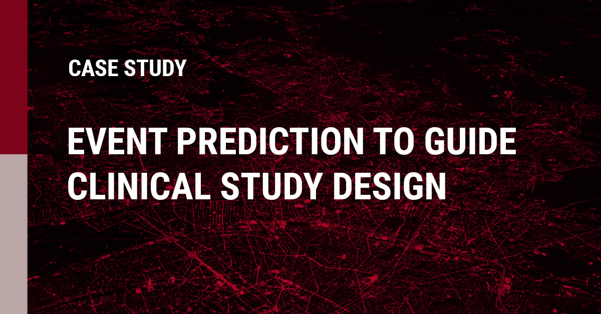 Image of event prediction to guide clinical study design