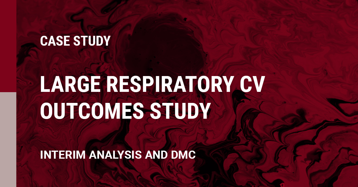 Image of A Large Respiratory CV Outcomes Study with Focus on Interim Analysis and DMC