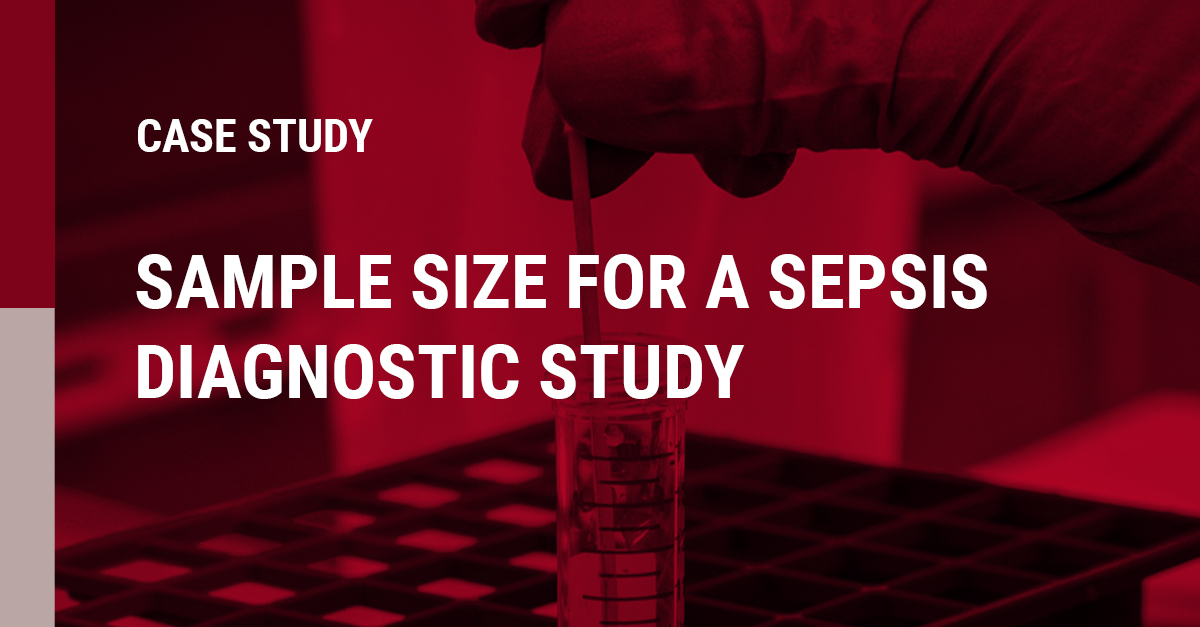 Image of a Sample size for a sepsis diagnostic study