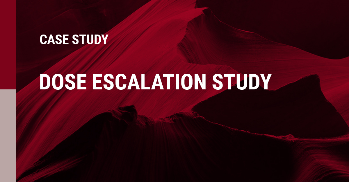 Image of a Dose Escalation case study