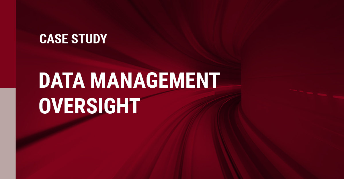 Image of Data management oversight