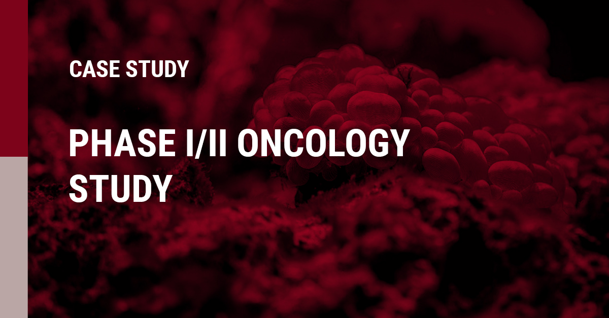 An image of a PHASE 1 and 2 ONCOLOGY STUDY