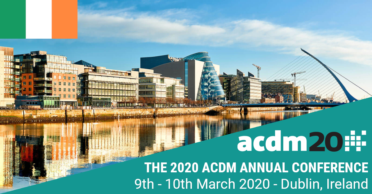 PHASTAR at the ACDM Annual Conference 2020 - Dublin, Rep of Ireland