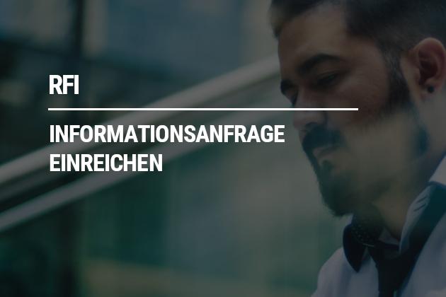 Informationsanfrage (RFI) einreichen